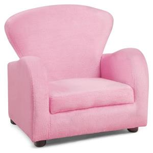 Monarch Kids Fabric Chair - Fuzzy Pink