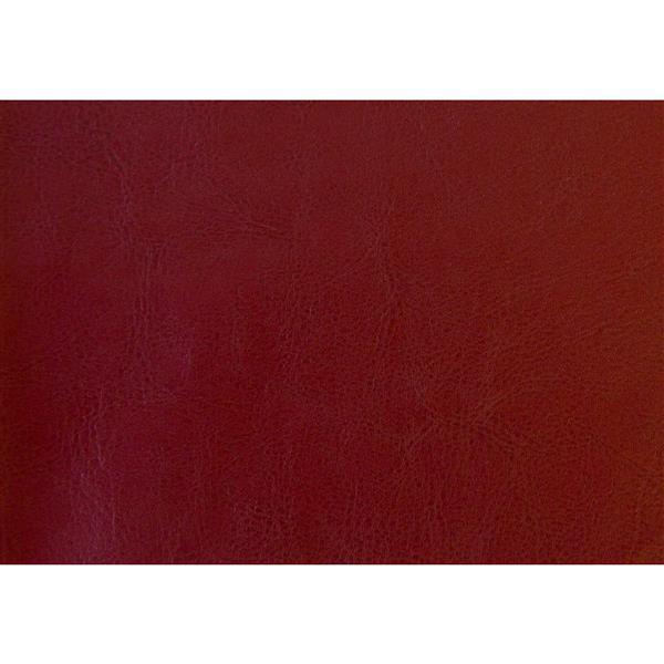 Monarch Kids Faux Leather Ottoman Set  - 2 Pieces - Red
