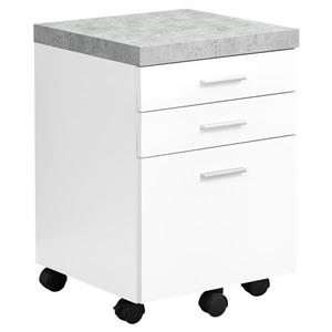 Wood Filing Cabinet - 3 Drawers - White