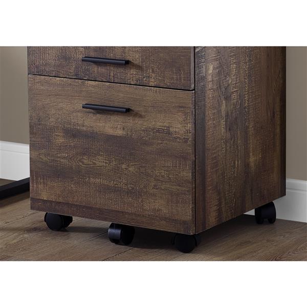 Monarch Reclaimed Wood Filing Cabinet - 3 Drawers - Brown