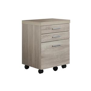 Monarch Wood Filing Cabinet - 3 Drawers - Natural