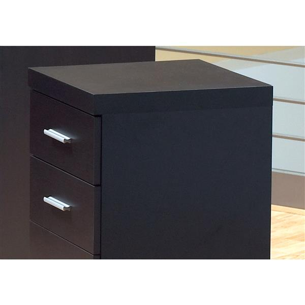 Monarch Wood Filing Cabinet - 3 Drawers - Cappuccino