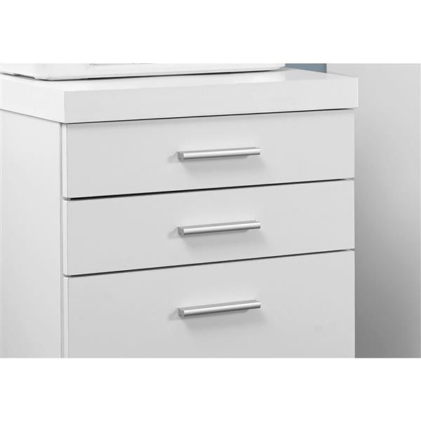 Classeur en bois à 3 tiroirs, blanc