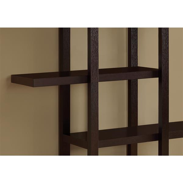 Monarch Bookcase - 71-in- Cappuccino