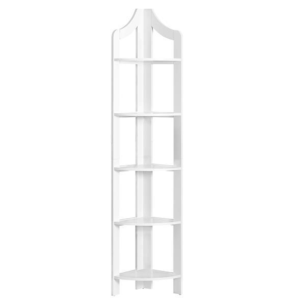 Monarch Corner Bookcase - 72-in - White