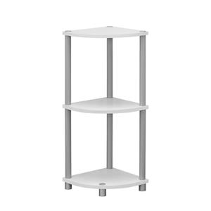 Corner Bookcase - 2 shelves - White - 30