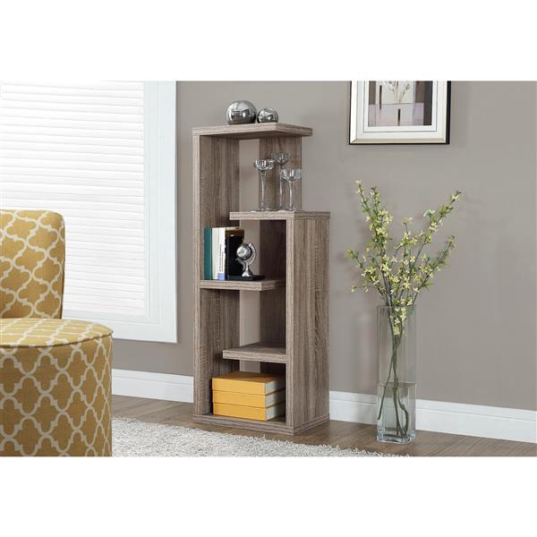 Monarch Bookcase - 48-in - Dark Taupe