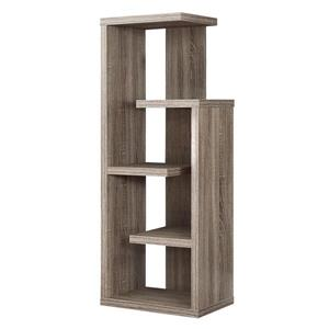 Monarch Bookcase - 48-in - Dark Taupe