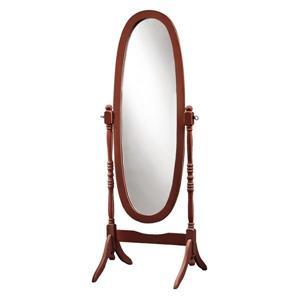 """Miroir ovale avec cadre en bois, 59"""", acajou"""