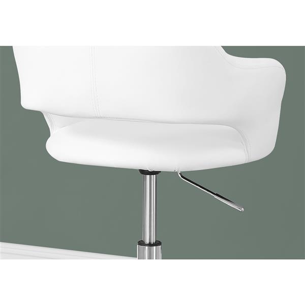 Chaise de bureau en faux cuir, blanc