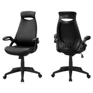 Chaise de bureau Monarch, similicuir noir