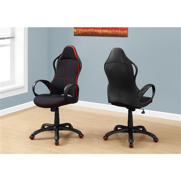 Monarch Contemporary Office Chair - Black