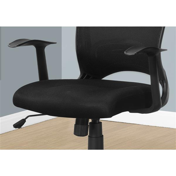 Monarch Contemporary Mesh Office Chair - Black
