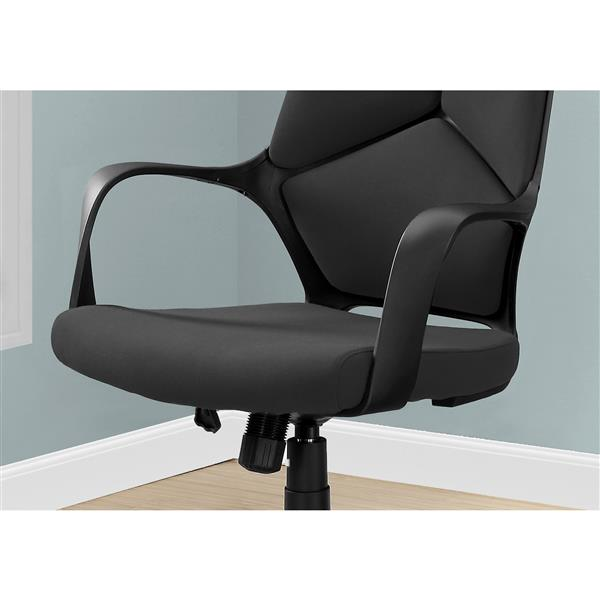 Contemporary Fabric Office Chair - Black