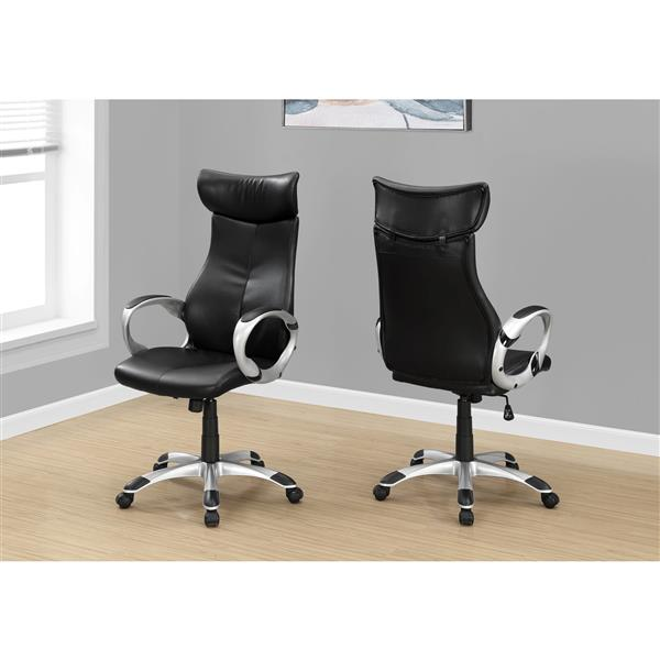 Faux Leather Office Chair - Black