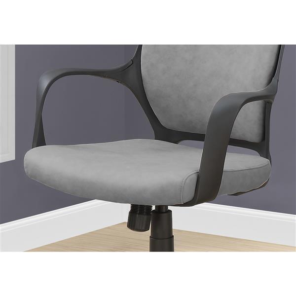 Monarch Microfiber Office Chair - Grey