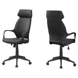 Chaise de bureau en microfibre, noir