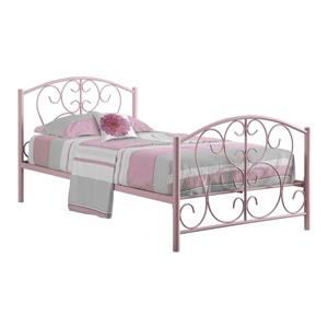 Monarch Bed Frame - Twin - Pink