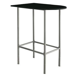 Monarch Home Bar - 24-in x 36-in - Black/Metal