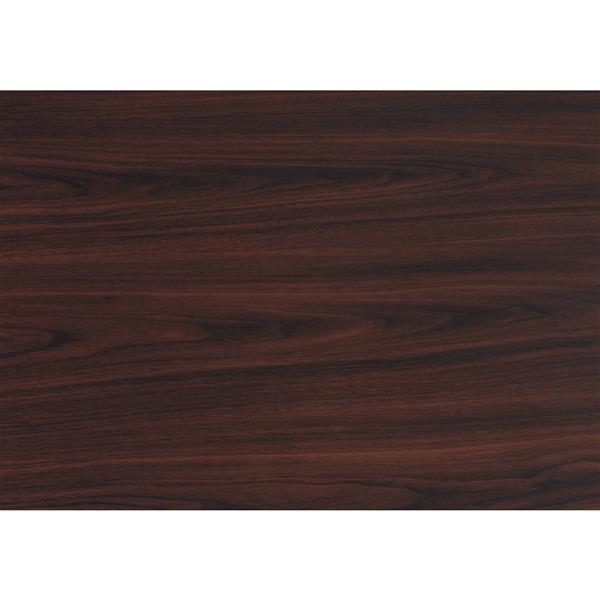 Monarch Home Bar - 24-in x 36-in- Cappuccino/Black Metal
