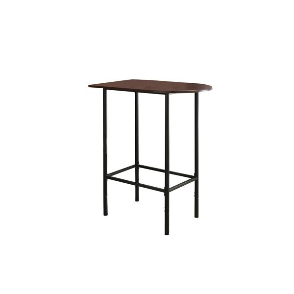 Monarch Home Bar - 24-in x 36-in- Cappuccino/Black Metal