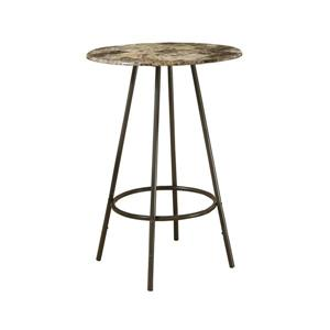 "Bar maison, 30"", cappuccino marbre/métal café"