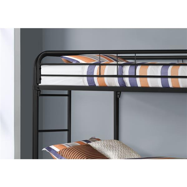 Monarch Bunk Bed - Twin - Black/Metal