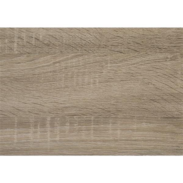Ensemble de tables en bois, 3 mcx, taupe foncé