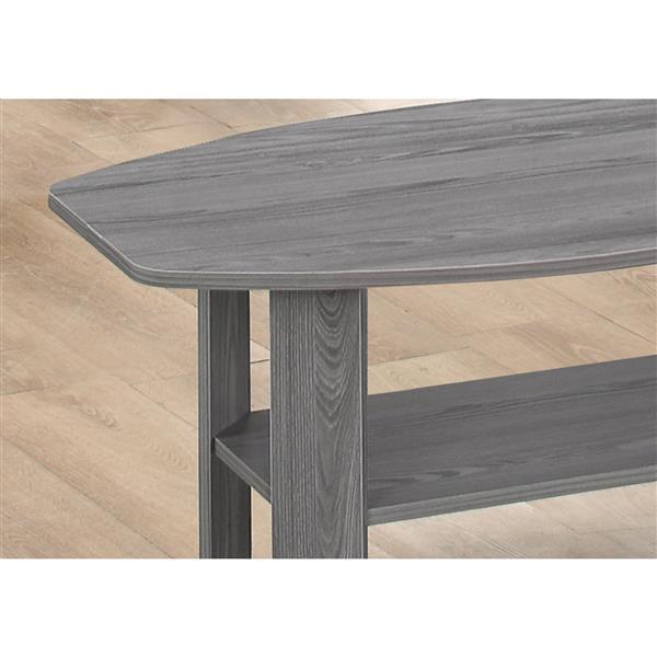 Ensemble de tables en bois, 3 mcx, gris