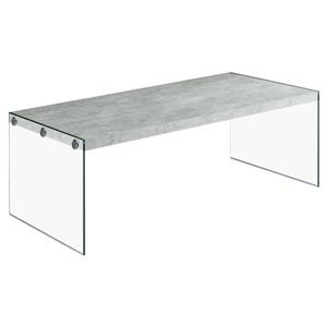 "Monarch Rectangular Glass Coffee Table - 44"" - Grey"