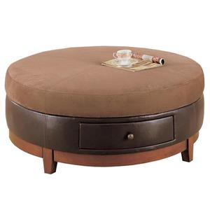 """Table basse rond, 42"""", brun"""
