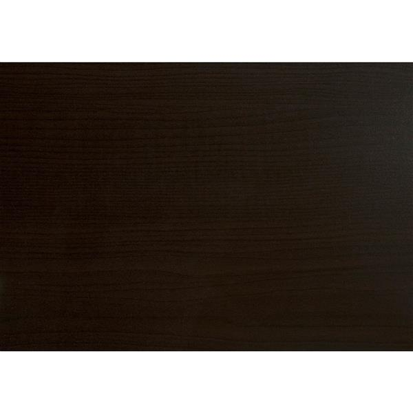Monarch Rectangular Coffee Table - 44-in - Cappuccino/Chrome