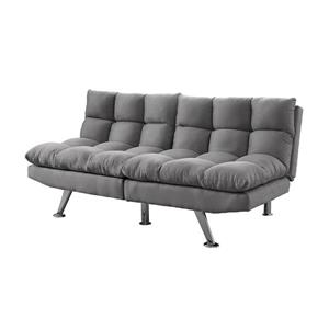 Monarch Convertible Micro-Suede Sofa - Grey