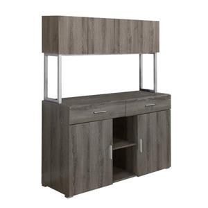 Monarch Office Cabinet - 48-in - Dark Taupe