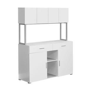"""Armoire de bureau pour le rangement, 48"""", blanc"""