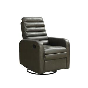 Fauteuil inclinable en cuir, charbon