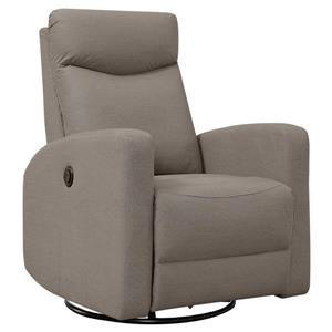 Fauteuil inclinable en cuir, brun clair
