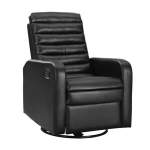 Leather Recliner Chair - Black