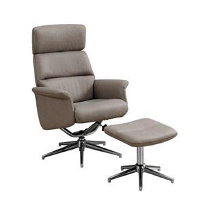 Ensemble de fauteuil inclinable en cuir, taupe, 2 mcx