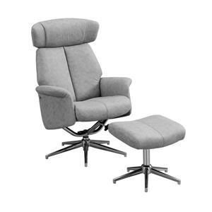 Ensemble de fauteuil inclinable en cuir, gris, 2 mcx