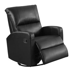 Leather Recliner Chair - Noir