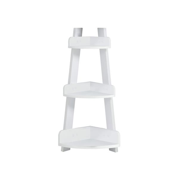 Monarch Bathroom Corner Shelf - 34-in - White
