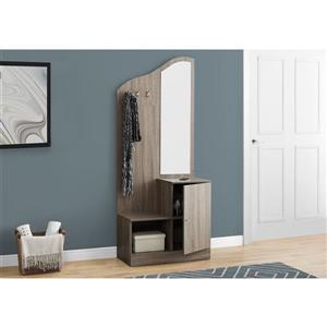 Monarch Contemporary Storage Unit - 75-in- Dark Taupe
