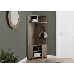 Monarch Corner Storage Unit - 67-in - Dark Taupe