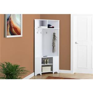 Monarch Coner Storage Unit  - 67-in - White