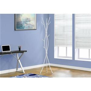 Monarch Contemporary Coat Rack - 74-in - White