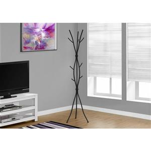 Monarch Contemporary Coat Rack - 74-in - Black