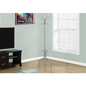Monarch Contemporary Coat Rack - 70-in - Silver