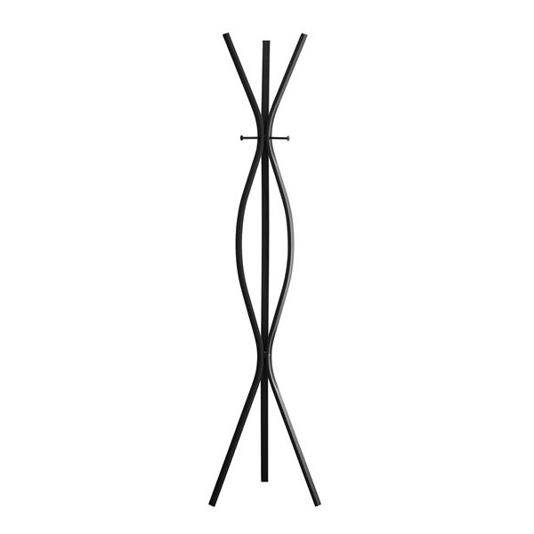 Monarch Contemporary Coat Rack - 72-in - Black