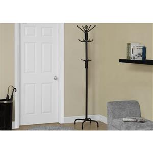 Monarch Contemporary Coat Rack - 70-in - Black